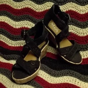 Girls low wedge sandals size 11
